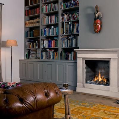 limestone surround trimline gas fire